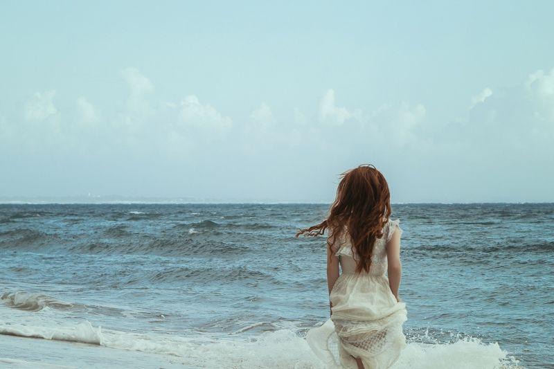 Portrait, sea, ocean, model, beauty, Oceanphoto preview
