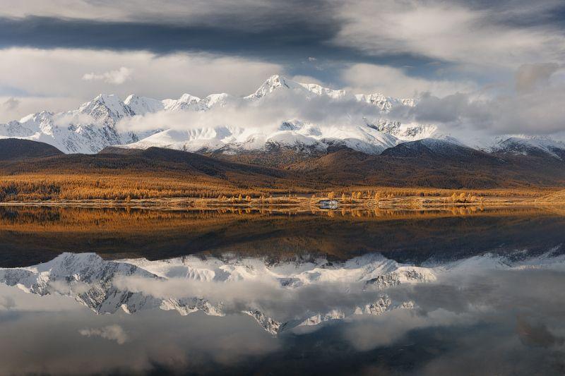 отражение, осень, горы, алтай Зеркало Джангыскольphoto preview