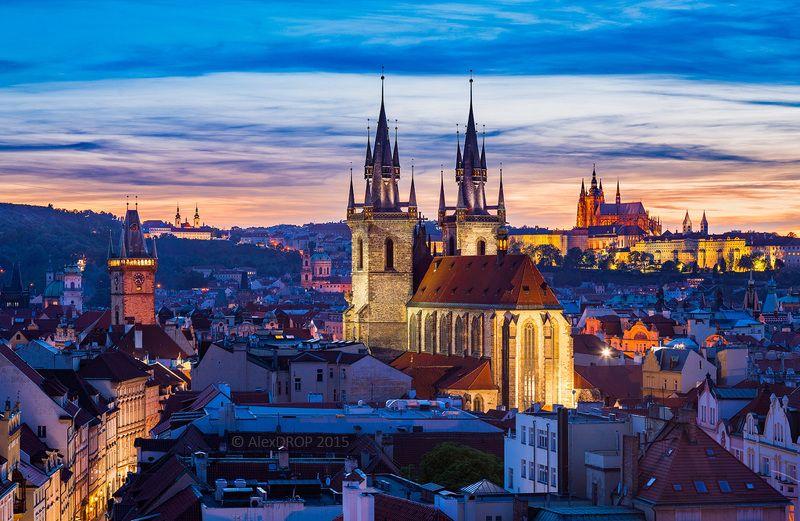 canon, color, postcard, picturesque, landmark, europe, czechia, prague, travel, urban, architecture, iconic, skyline Панорама Прагиphoto preview