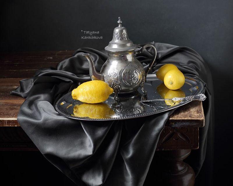 натюрморт, лимон, чайник Лимоны в готическом стилеphoto preview