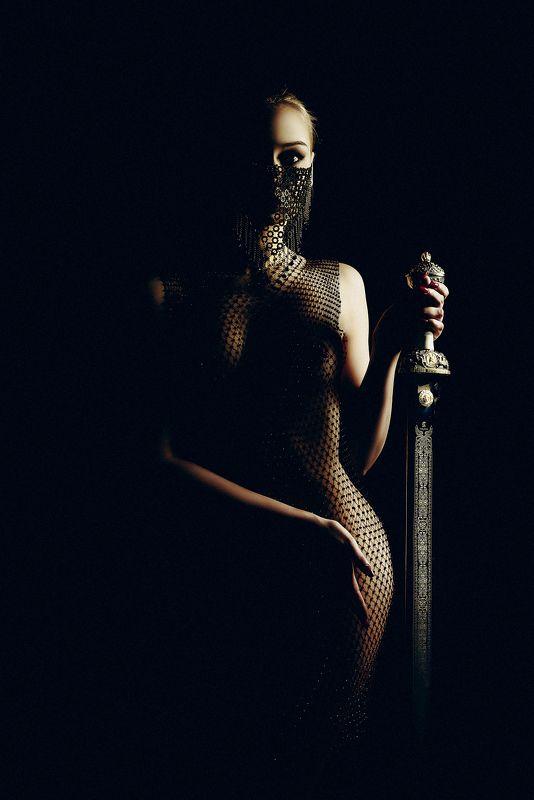 woman, portrait, studio, conceptual, art The beauty Warriorphoto preview