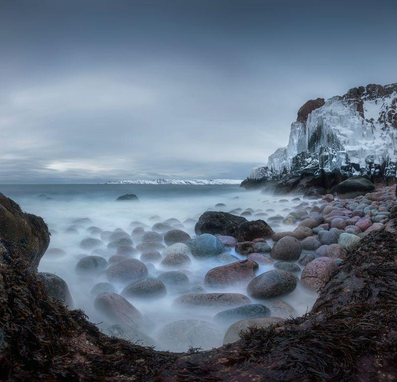 баренцево море, камни, териберка, кольский, мурманская Март в Териберкеphoto preview
