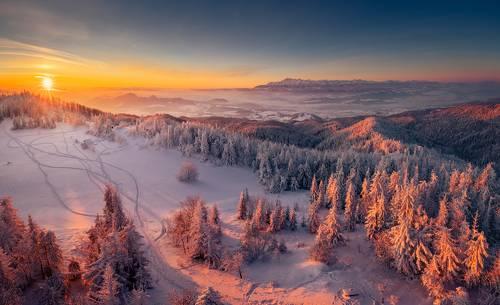 Sunrise in Gorce