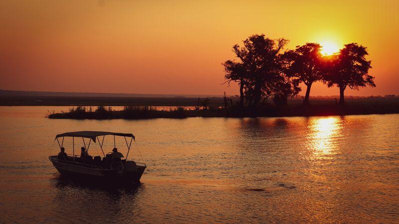 африка, зимбабве, замбия, ботсвана, рыбалка, замбези, река, животные, wildife, wildife photograpy, africa, safari, nikon, nikon russia, fishing Африканский закат.photo preview
