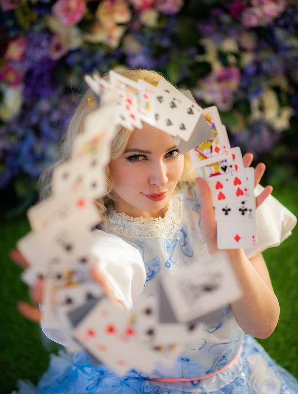 алиса, фэнтези, косплей, студия, портрет, женскийпортрет, portrait, alice, cosplay, fantasy Alice in Wonderland.photo preview