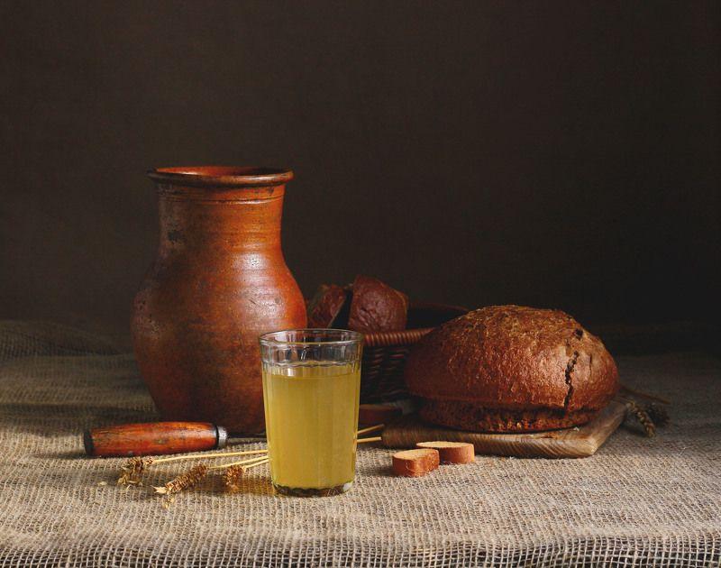 натюрморт, фотонатюрморт, квас, хлеб, наталья казанцева Винцо - для веселья, а квас - для души!photo preview