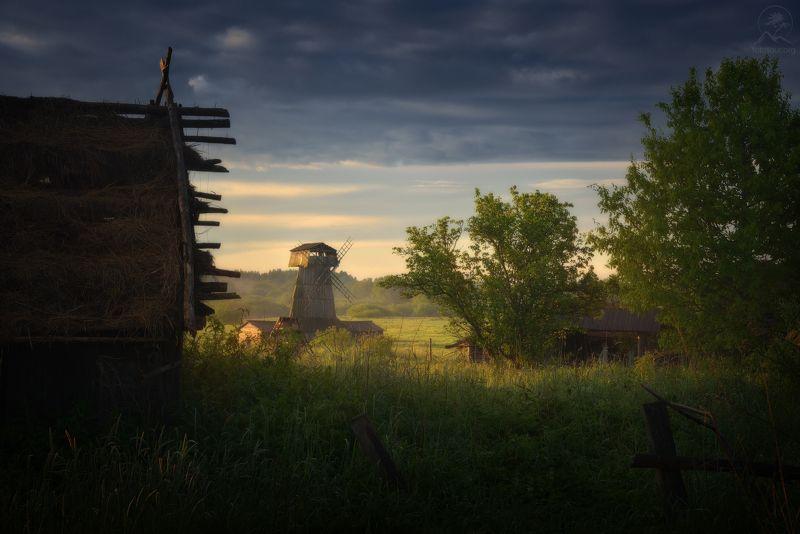 пейзаж Утро в деревнеphoto preview