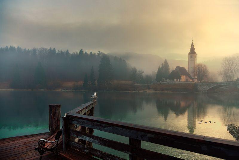 туманное утро. Словения...photo preview