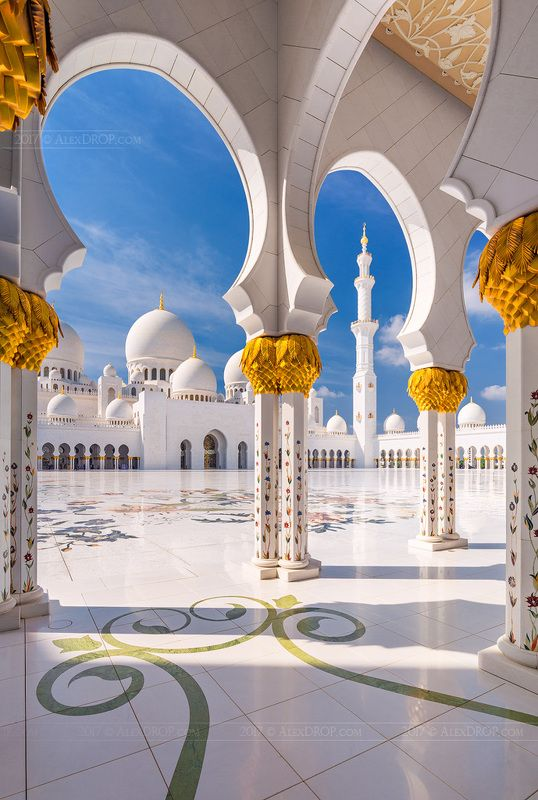 canon, color, postcard, picturesque, landmark, mosque, abu-dhabi, uae, emirates, arab, zayed, travel, urban, architecture, iconic Арки Белой мечети шейха Зайдаphoto preview