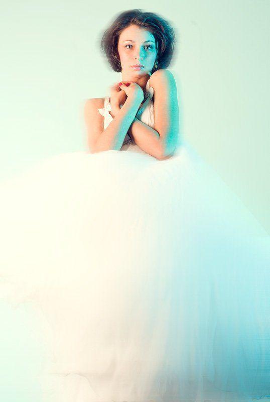 девушка, портрет, цвет, глаза, цифра Призракphoto preview