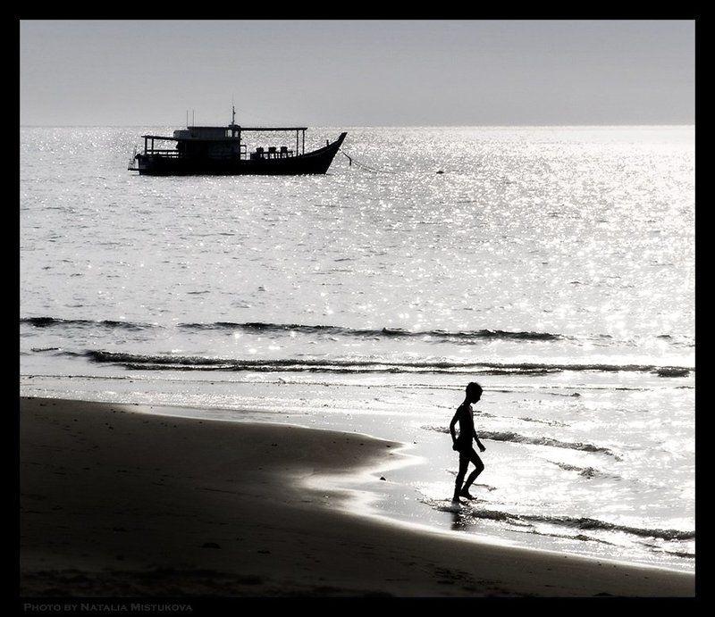силуэт, море, малайзия силуэтный этюдphoto preview