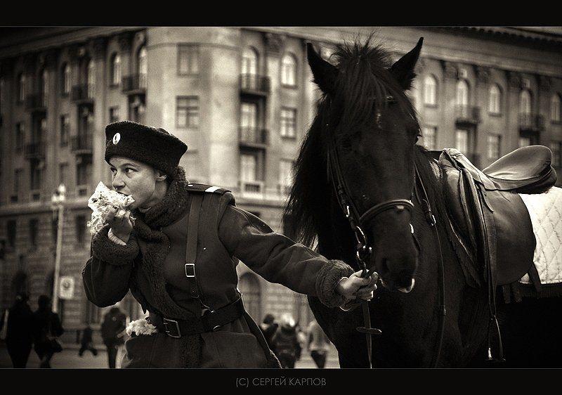 жанр, перерыв, лошадь Перерывphoto preview