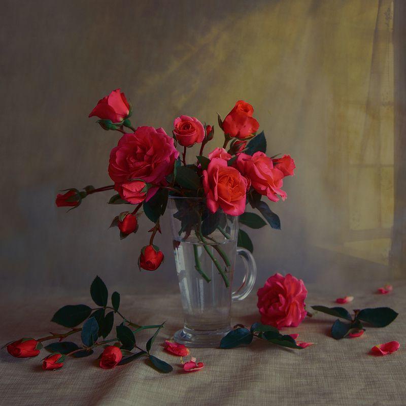 розы Розы в стаканеphoto preview