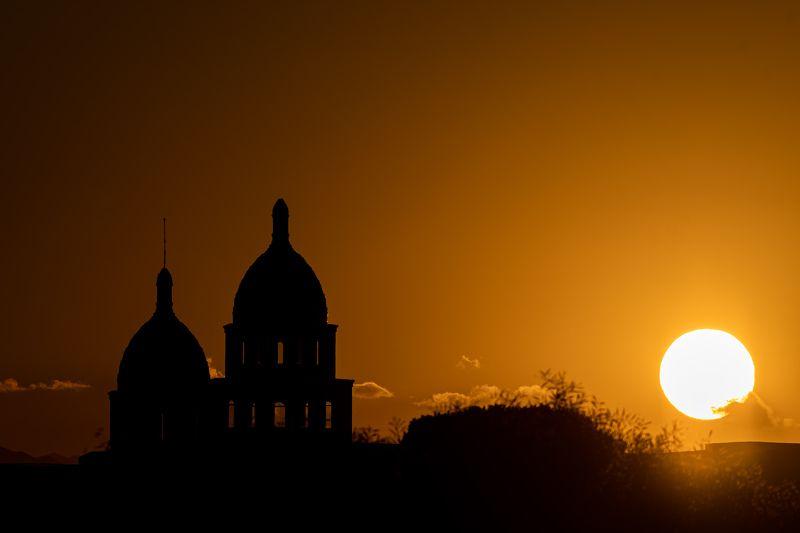 Silence; Turkey; bright; clouds; light; monochrome; morning; nature; no people; shadows; silhouette; sun; sunrise;  Sunrisephoto preview