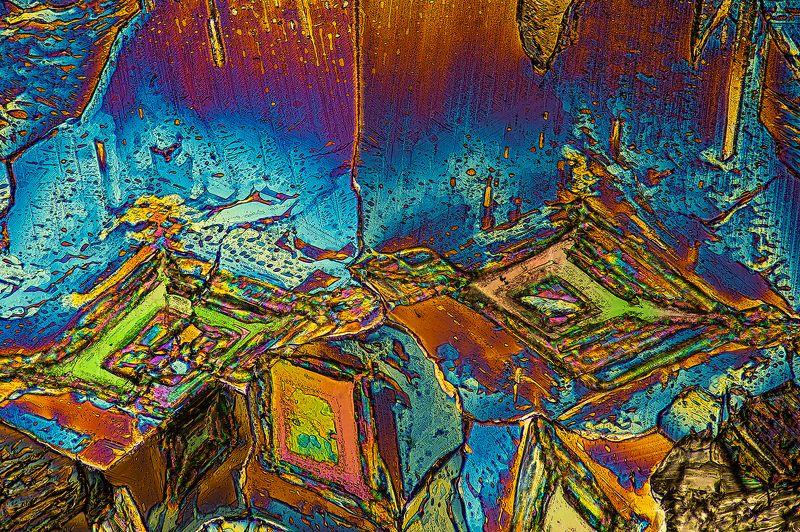 кристалл,crystals,макро,бета аланин,поляризованный свет,супер макро,macro, β-alanine photo preview