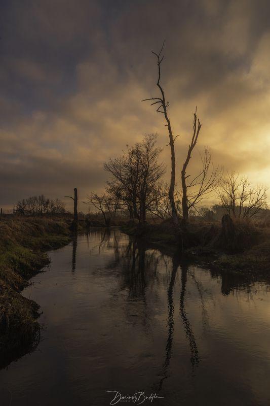 sunrise, spring, river, jeziorka, sky, River Jeziorkaphoto preview