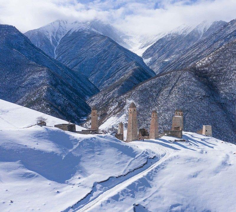 Россия, Ингушетия, Кавказ, Эрзи, #rtgtv, aerial, коптер, аэро Стражи горphoto preview