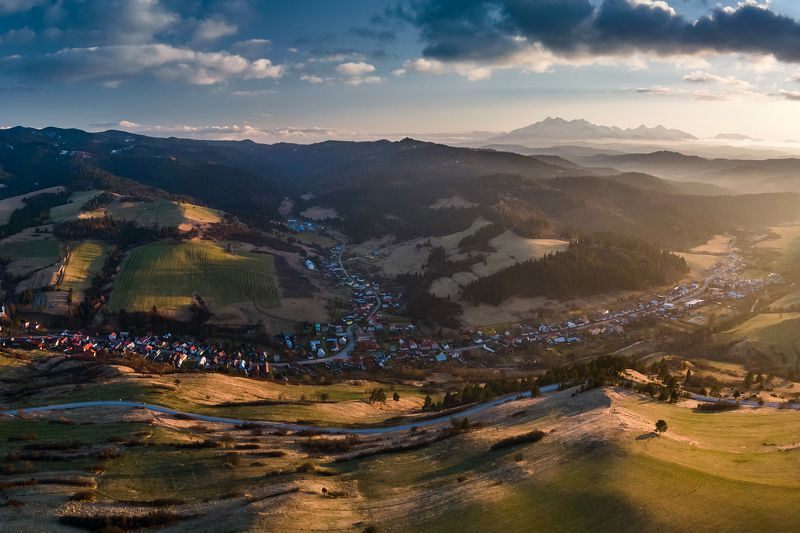 mountains, spring, slovakia, sunset Evening in the Mountainsphoto preview