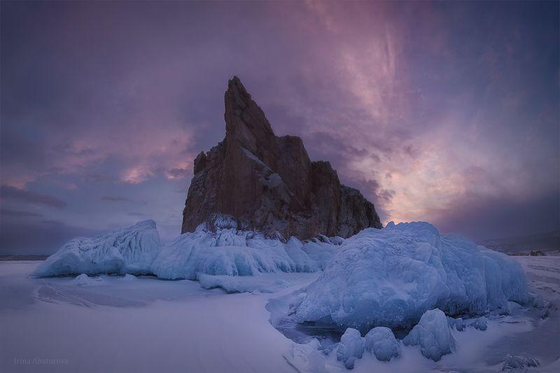 байкал, закат, лед, сосульки, наплески Застывший прибойphoto preview