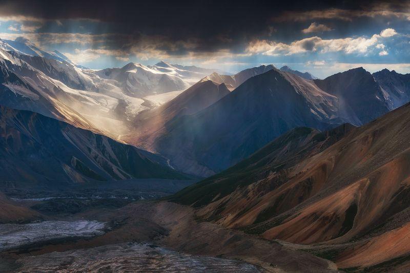 тянь-шань, горы, закат, мраморная стена, баянкол Летний вечерphoto preview