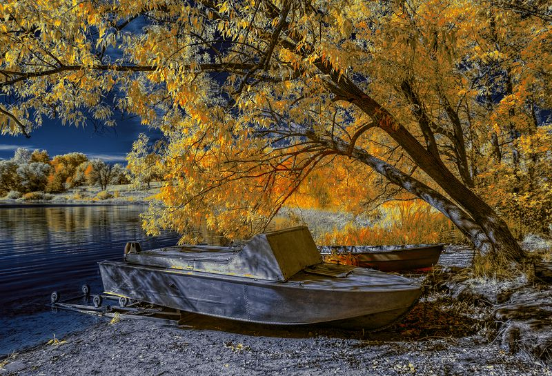 infrared,ик-фото,инфракрасное фото, инфракрасная фотография, пейзаж, осень Теплые дни.photo preview