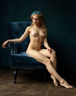 Nude in an armchair