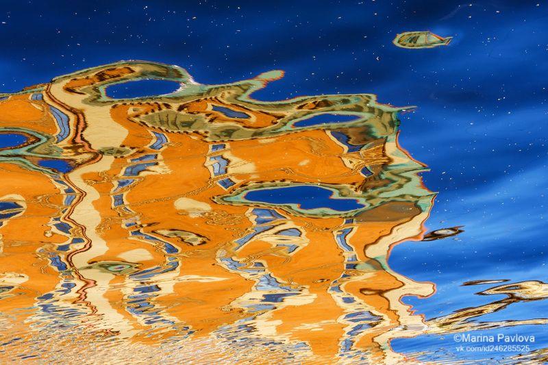 абстракция, акваабстракция, акваграфика, отражение на воде, канал грибоедова, петербург, #ородские отражения, петербургские акварели, nikon \