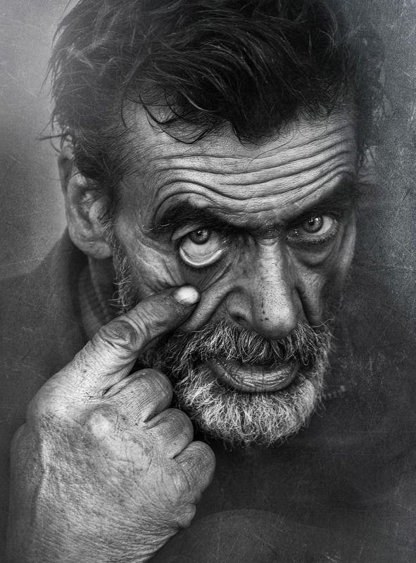 #Portrait #skin #people #eye #look #finger Homeless Manphoto preview