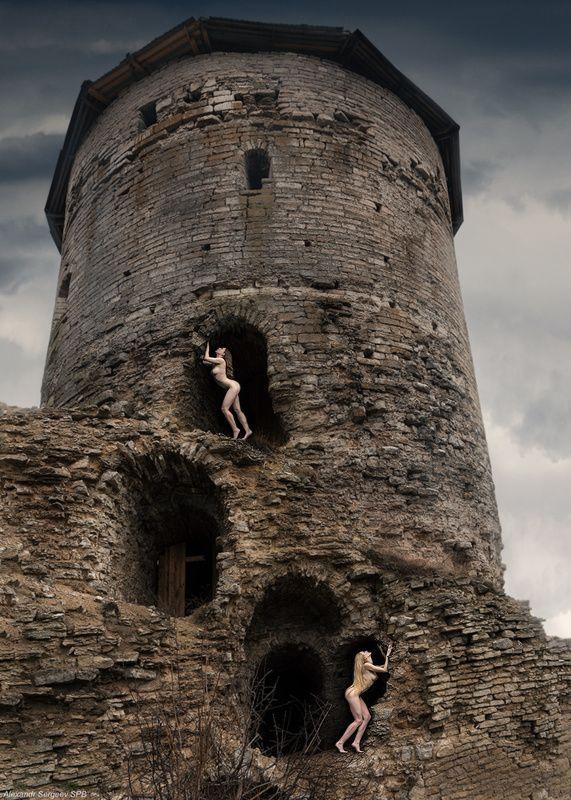 девушки,обнажение, арт,фото-арт,ню-арт,концептуальое Легенды Гремячей башниphoto preview