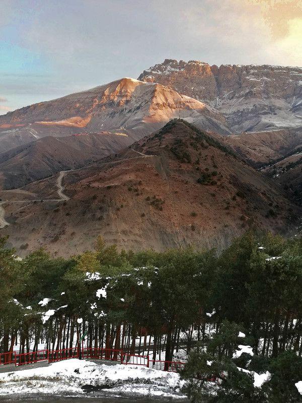 Россия, Кавказ, Ингушетия, гора Столовая, рассвет, #rtgtv, Армхи Гора Столоваяphoto preview