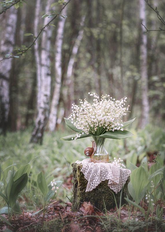 ландыши, букет, весна, май, аромат, нежность, \