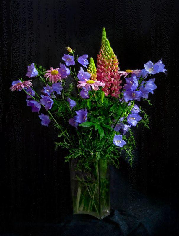 цветы,букет, лето,натюрморт,капли,дождь Букет дождливого летаphoto preview