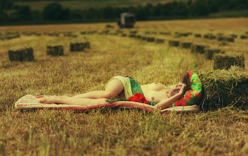 девушка, модель, ню Тёплые денькиphoto preview