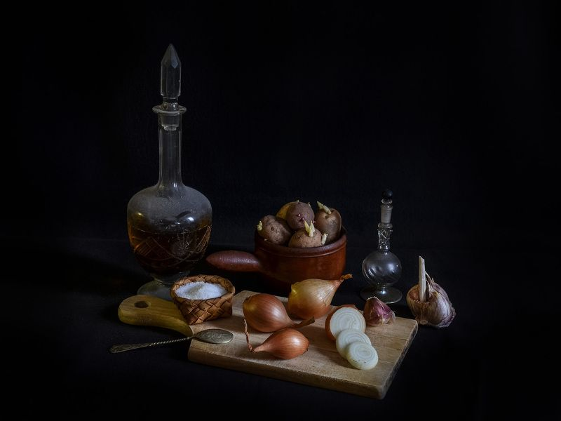 натюрморт. фотография, спб, стекло, питер, абстракция, концептуальное Натюрморт с овощами.photo preview