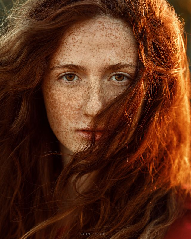 sunny sun girl redhead beauty freckles redheadphoto preview