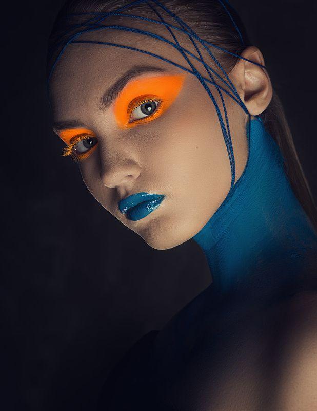 бьюти глаза макияж портрет Марсианкаphoto preview