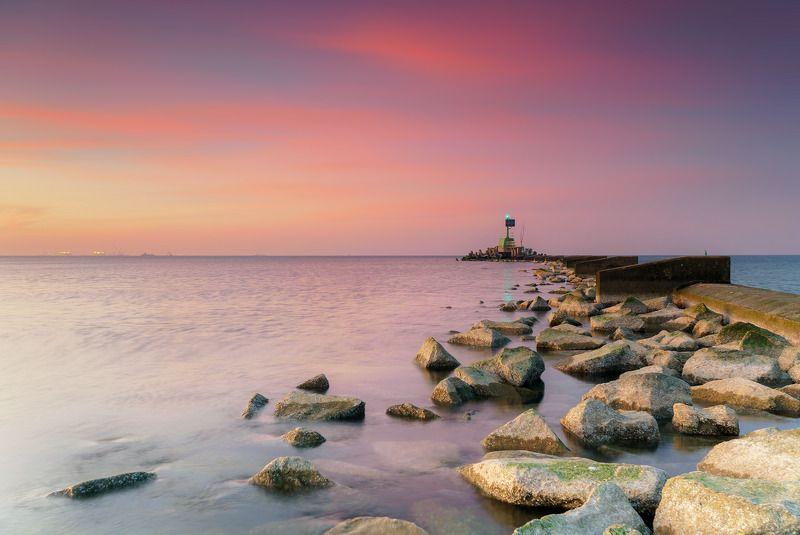 sea, sky, stone, baltic, gdansk, poland, sunset Западные холмыphoto preview
