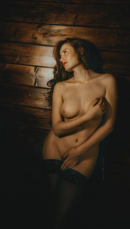 девушка ню грудь рыжеволосая чулки Кружевные чулкиphoto preview