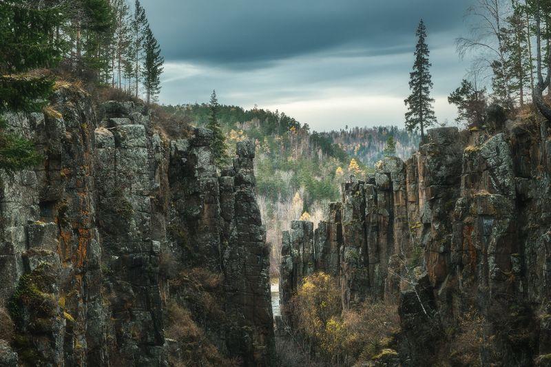 россия, иркутская область, нижнеудинск, водопад, тайга, рассвет, природа, пейзаж, снег, река, осень, ук, уда, каньон Каньонphoto preview