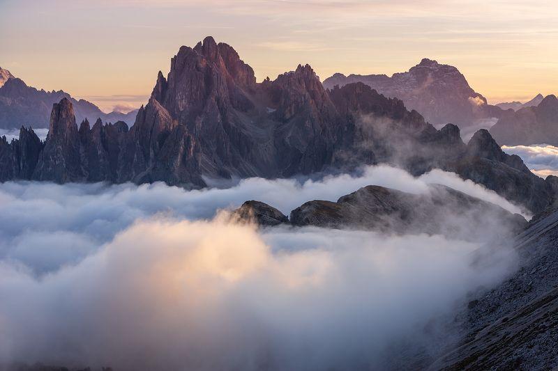 италия, доломиты, горы, облака, закат, осень, природа, landscape, italy, dolomites Доломиты.photo preview