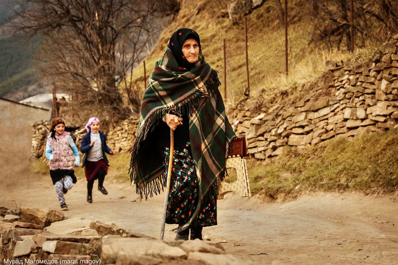 бабуля.горы,аул,гоор,дагестан, Бабушка из старого аула Гоор..photo preview
