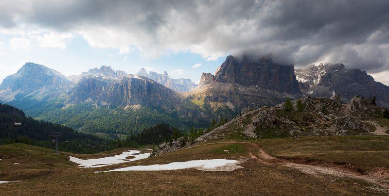 италия, доломиты, горы, облака, природа, landscape, italy, dolomites Заходит...photo preview