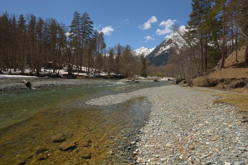 горы, весна, архыз, река Весна в Архызеphoto preview