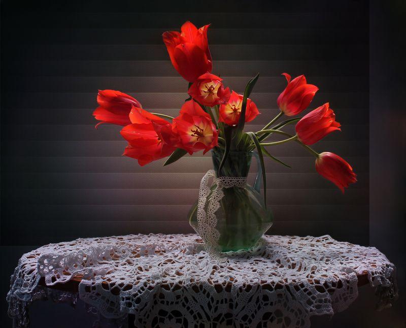 натюрморт, весна, тюльпаны Весенний рассветphoto preview