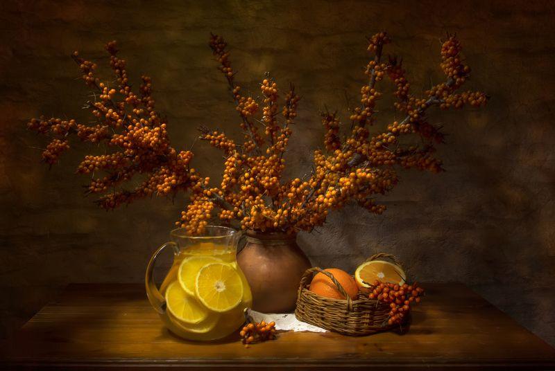 натюрморт, облепиха, апельсин Витаминки)photo preview