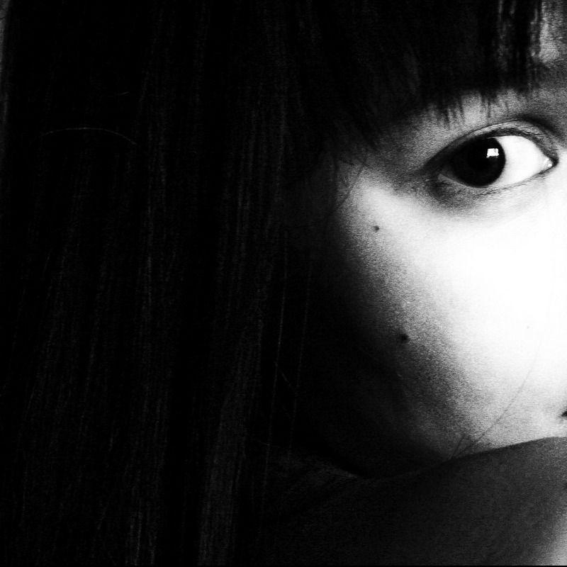 девушка, портрет, лицо, глаз, черно-белое Nphoto preview