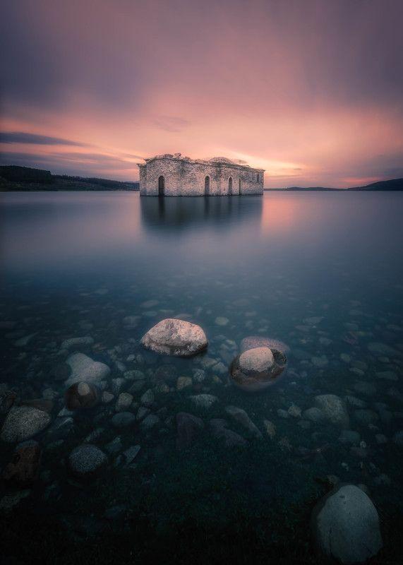 #landscape#nature#longexposure#lake Under water churchphoto preview
