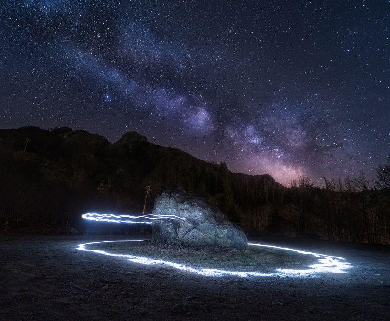 night, milky way, italy, liguria, landscape, astro, sky, ночная фотография, млечный путь, италия Ghost Stonephoto preview