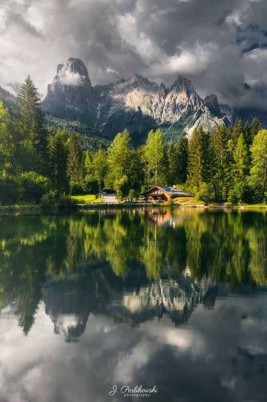 mountains, lake, mirror Mirror in Dolomitesphoto preview