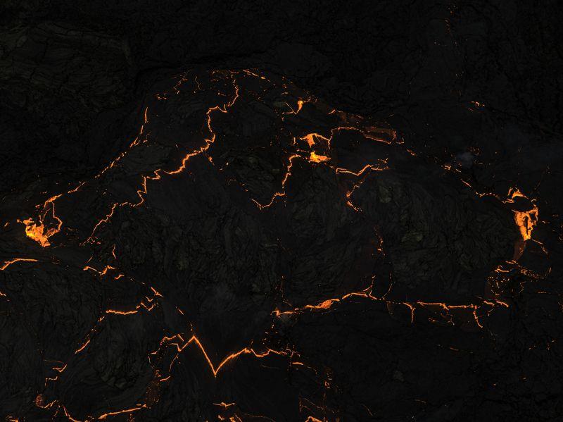 аэрофотосъёмка,пейзаж,iceland,вулкан, извержение Огненный Питбульphoto preview